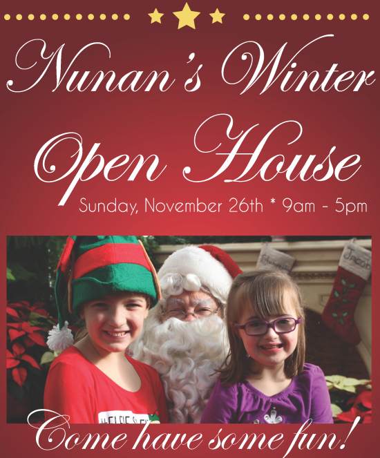 Nunan's Winter Open House @ Nunan Florist & Greenhouses